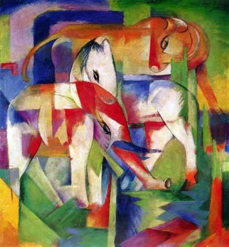 tableaux-pour-enfants - Tableau -Elefante, caballo y vaca- - Marc, Franz