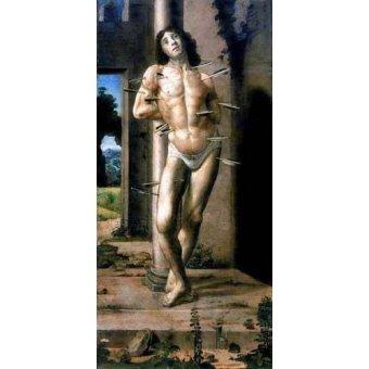 Tableaux religieuses - Tableau -San Sebastian- - Berruguete, Pedro