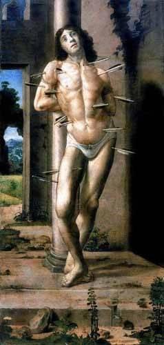 tableaux-religieuses - Tableau -San Sebastian- - Berruguete, Pedro