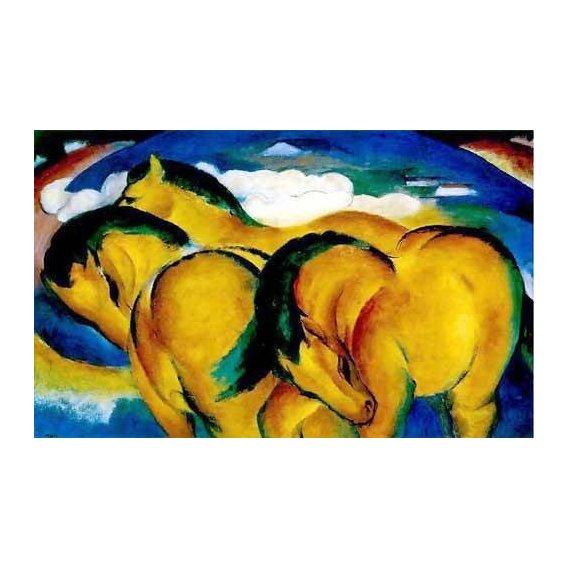 imagens para crianças - Quadro -Caballitos amarillos-