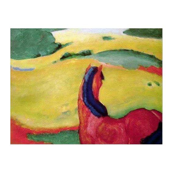 imagens para crianças - Quadro -Caballo en un paisaje-