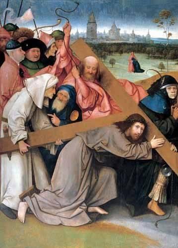 tableaux-religieuses - Tableau - Christ portant la croix - - Bosco, El (Hieronymus Bosch)