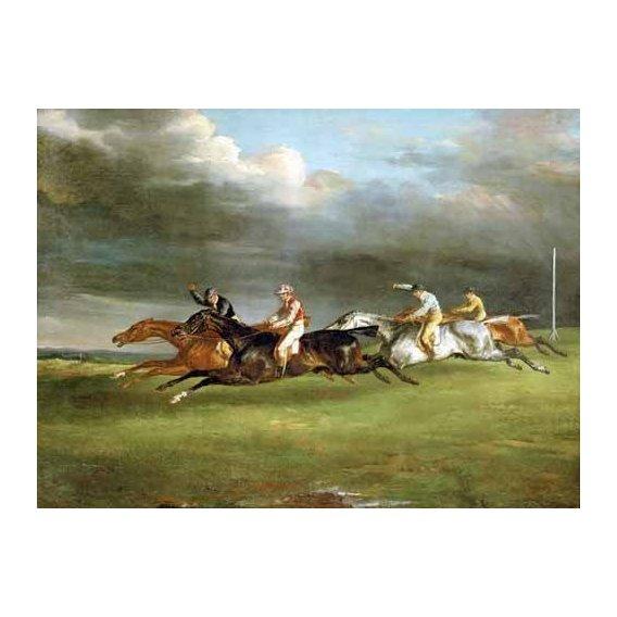 fotos de fauna - Quadro -Carrera de caballos en Epsom-