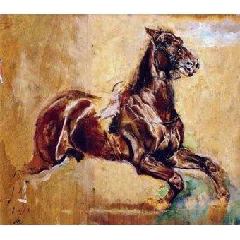 Tableaux de faune - Tableau -Estudio de caballo- - Meissoner, Jean Louis