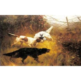Tableaux de faune - Tableau -Three Pointers in a Landscape- - Blinks, Thomas