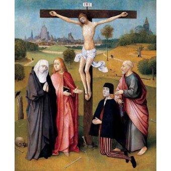 Tableaux religieuses - Tableau -La Crucifixión- - Bosco, El (Hieronymus Bosch)