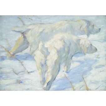 Tableaux de faune - Tableau -Perros pastores siberianos- - Marc, Franz