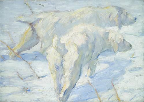 tableaux-de-faune - Tableau -Perros pastores siberianos- - Marc, Franz