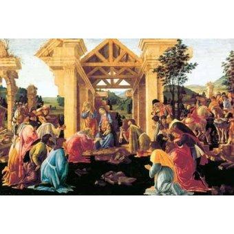 Tableaux religieuses - Tableau -Adoración de los Reyes Magos- - Botticelli, Alessandro