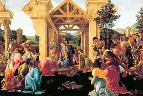tableaux-religieuses - Tableau -Adoración de los Reyes Magos- - Botticelli, Alessandro