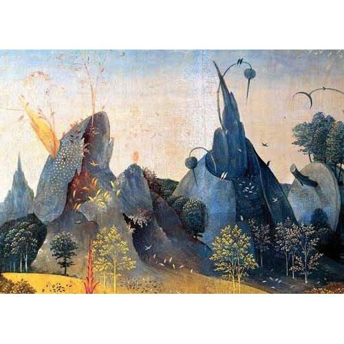 Tableau -Le Jardin des Délices - Paysage Bleu --