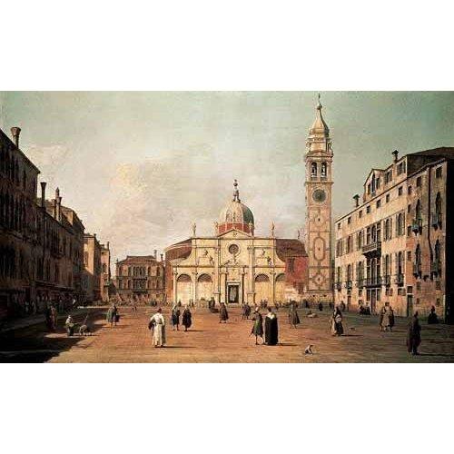 Tableau -Venecia, -El campo Santa Maria Formosa--