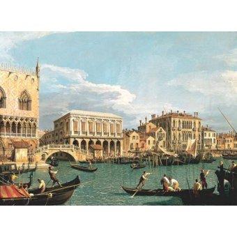 Tableaux de paysages marins - Tableau -La Mole vista desde San Marco- - Canaletto, Giovanni A. Canal