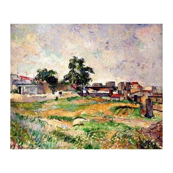 pinturas de paisagens - Quadro -Paisaje cerca de París-