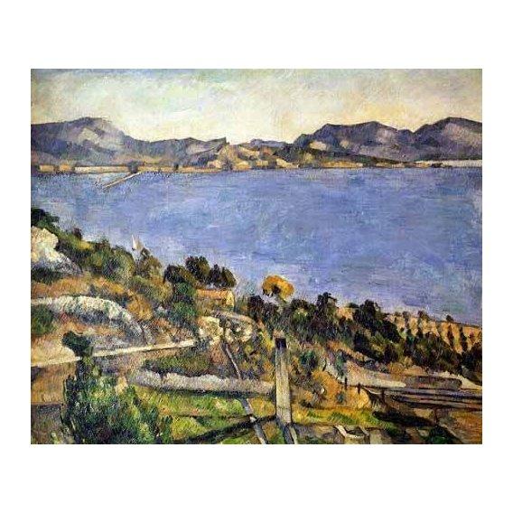 pinturas de paisagens marinhas - Quadro -La bahía de Marsella desde L´Estaque-