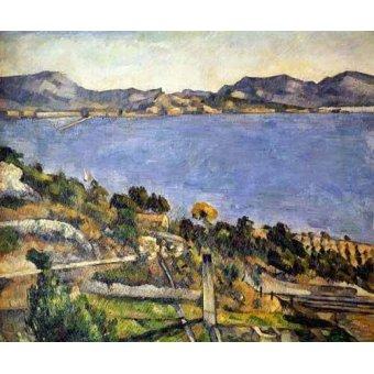 Tableaux de paysages marins - Tableau -L'Estaque- - Cezanne, Paul