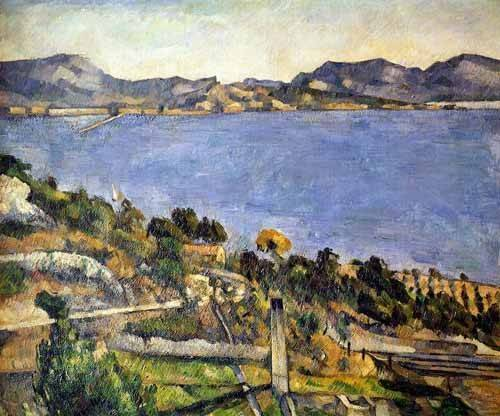 tableaux-de-paysages-marins - Tableau -L'Estaque- - Cezanne, Paul