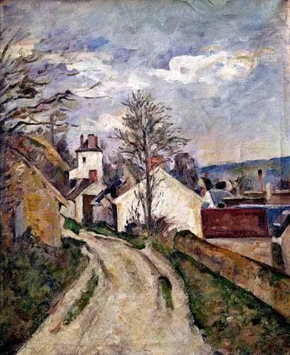 tableaux-de-paysages - Tableau -La Maison du docteur Gachet- - Cezanne, Paul