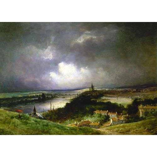 Tableau -Paisaje con el río-