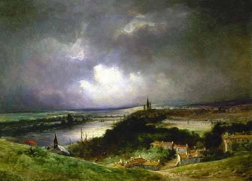 tableaux-de-paysages - Tableau -Paisaje con el río- - Constable, John