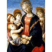 Tableau -La virgen y el Niño con San Juan Bautista y dos angeles-