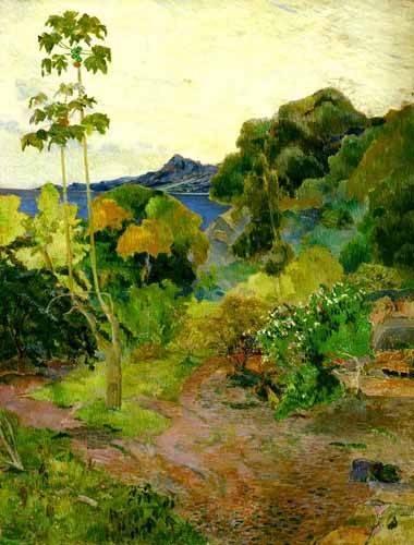 tableaux-de-paysages - Tableau -Paisaje de la Martinica- - Gauguin, Paul
