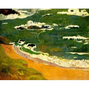 Tableaux de paysages marins - Tableau -Playa de Le Poldu- - Gauguin, Paul
