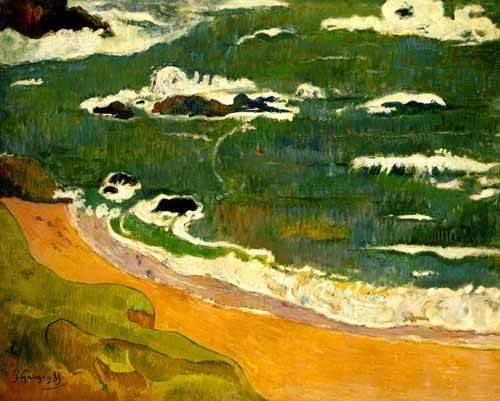 tableaux-de-paysages-marins - Tableau -Playa de Le Poldu- - Gauguin, Paul