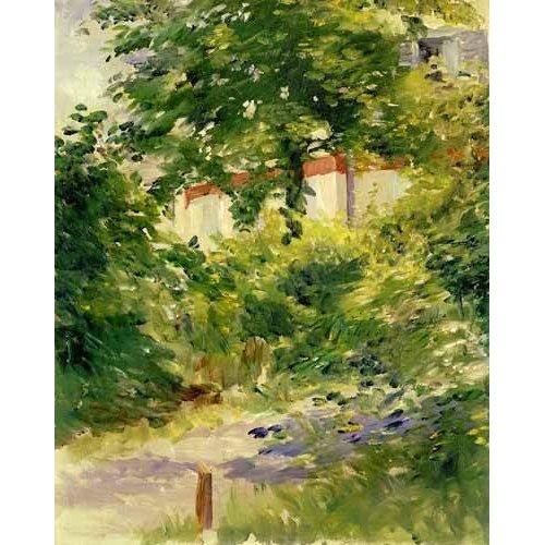 Tableau -Un coin du jardin de Rueil-