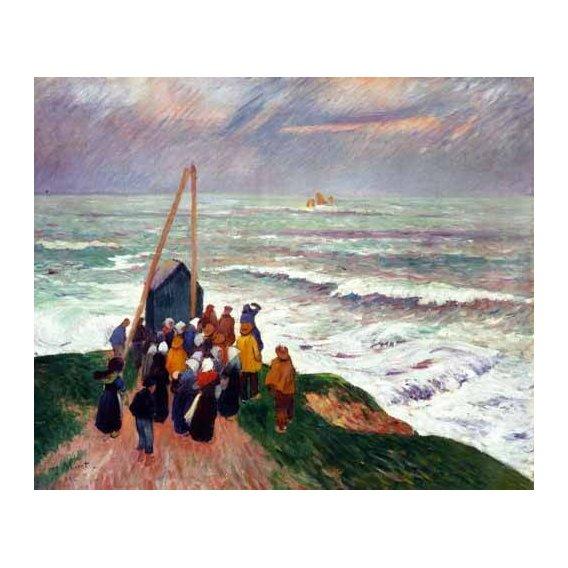 pinturas de paisagens marinhas - Quadro -Barcelona desde una azotea de la riera de Sant Joan-