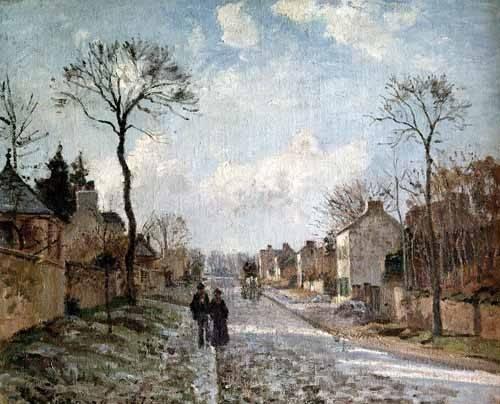tableaux-de-paysages - Tableau -Paysage d'hiver à Louveciennes- - Pissarro, Camille