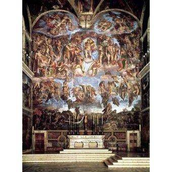 Tableaux religieuses - Tableau -Retable du jugement final- - Buonarroti, Miguel Angel