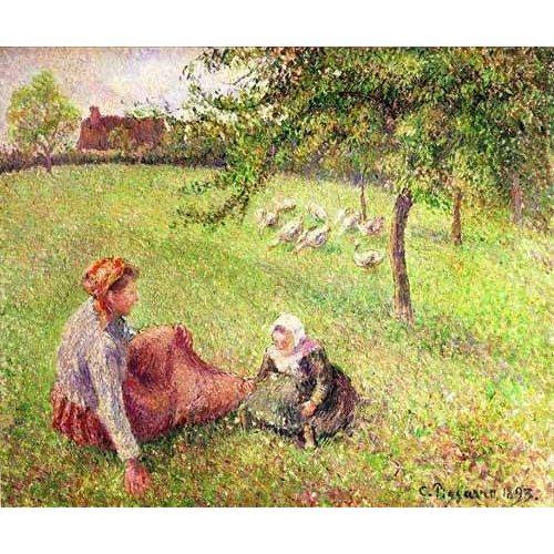 Tableau -La bergère des oies-