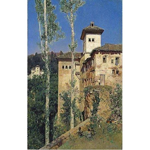 Tableau -La Torre de las Damas en la Alhambra-