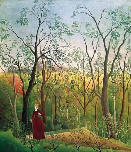 tableaux-de-paysages - Tableau -Paseo por el bosque- - Rousseau, Henri