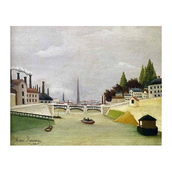pinturas de paisagens - Quadro -Pont de Paris-