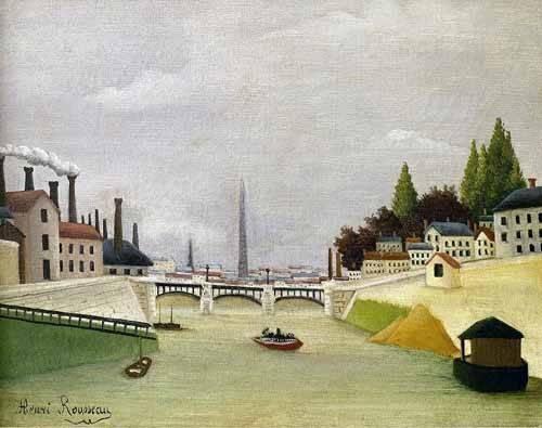 tableaux-de-paysages - Tableau -Pont de Paris- - Rousseau, Henri
