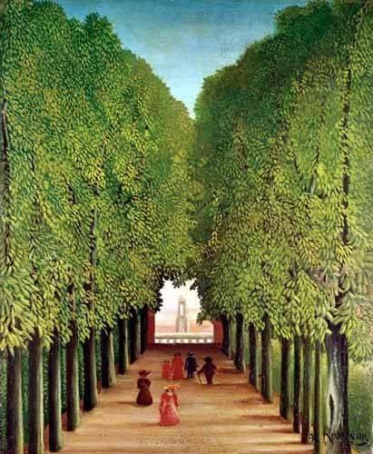 tableaux-de-paysages - Tableau -Avenida del parque Saint Cloud- - Rousseau, Henri