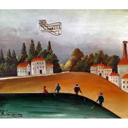 Tableau -Los pescadores de caña y el avión-