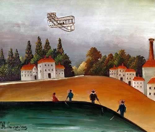tableaux-de-paysages - Tableau -Los pescadores de caña y el avión- - Rousseau, Henri