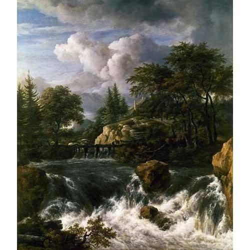 Tableau -Paisaje con una cascada-