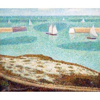 Tableaux de paysages marins - Tableau -Entrada al puerto- - Seurat, Georges