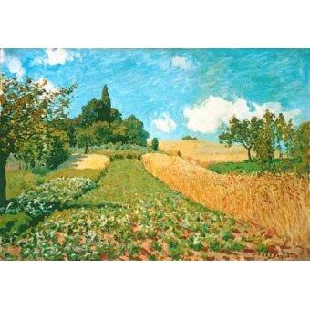- Tableau -Champ de blé - - Sisley, Alfred