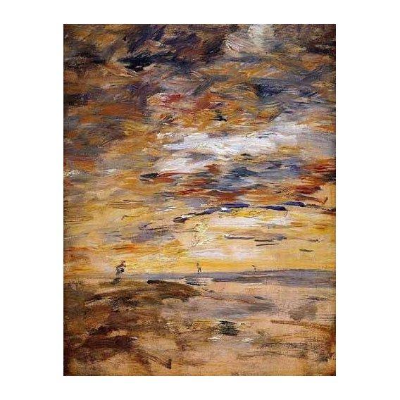 pinturas abstratas - Quadro -Sky at sunset-