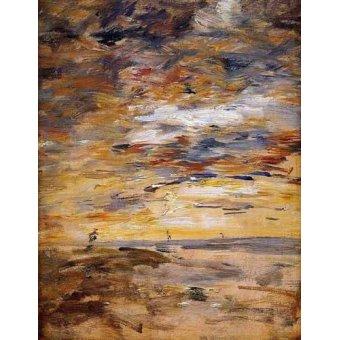 Tableaux abstraits - Tableau -Sky at sunset- - Boudin, Eugene