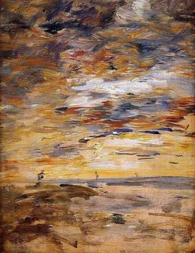 tableaux-abstraits - Tableau -Sky at sunset- - Boudin, Eugene