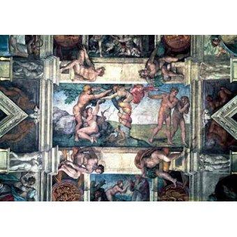Tableaux religieuses - Tableau -Bóveda: Pecado original- - Buonarroti, Miguel Angel