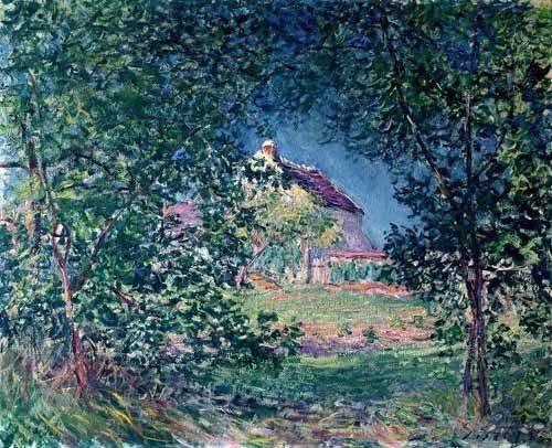 tableaux-de-paysages - Tableau -Lindero del bosque en la primavera- - Sisley, Alfred