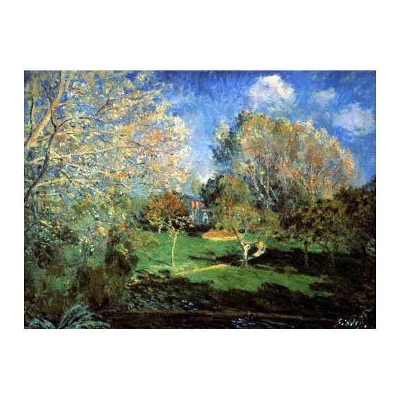 pinturas de paisagens - Quadro -Garden-