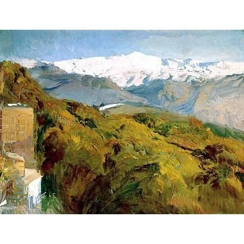 pinturas de paisagens - Quadro -Vista de Sierra Nevada-